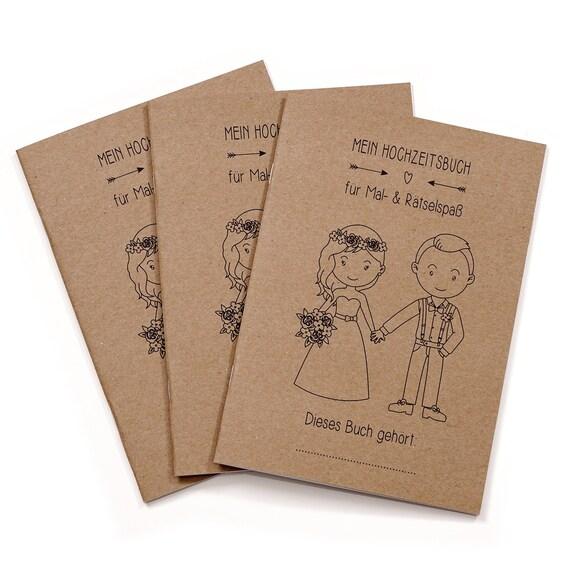 Hochzeit Hochzeit Gastebuch Fur Kinder Gastgeschenk Etsy