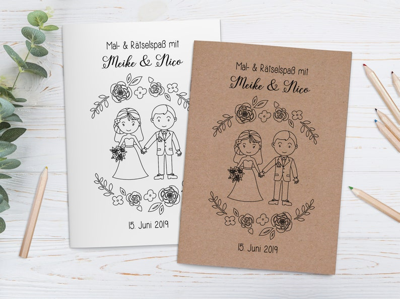 personalisierte Malbücher für Kinder im Set  Gastgeschenk Bild 0