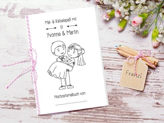 Gastebuch Hochzeit Mit Fragen Hochzeitsmalbuch Pdf Etsy