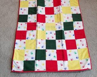Hand prints baby quilt