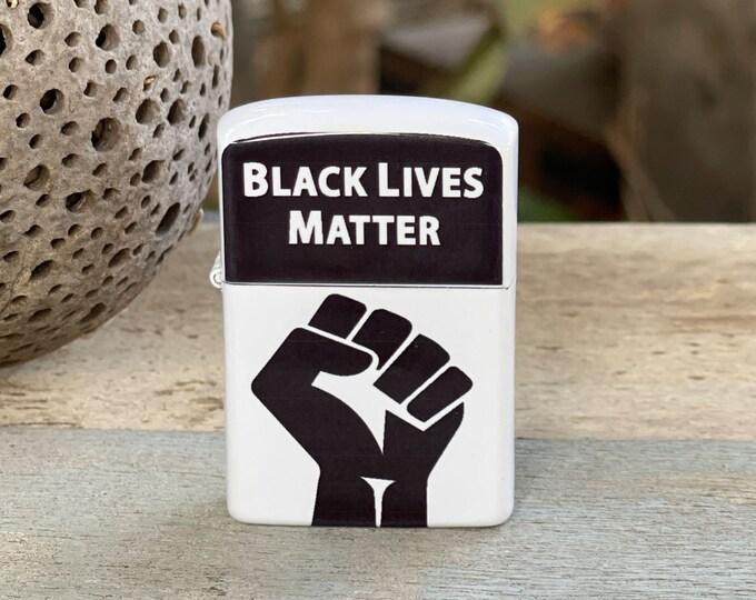 Black Lives Matter flip lighter, Gift for Him, Groomsmen, Bachelors, Fathers Day