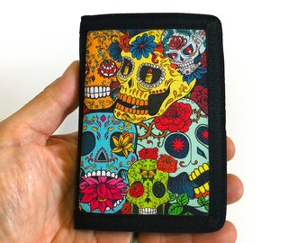 Canvas Wallet Sugar Skull dia de los muertos Sublimation Gift for Friend