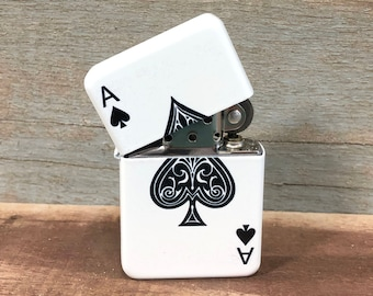 Ace of Spade flip lighter, Gift for Him, Groomsmen, Bachelors, Fathers Day