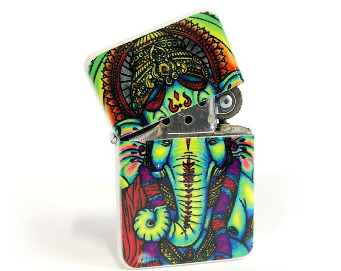 Ganesha flip lighter Gift for Him-Groomsmen-Bachelors-Fathers Day