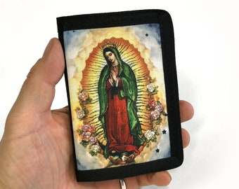 Canvas Wallet-Guadalupe-Tri fold-Canvas-Religious-Faith-Sublimation-Gift for Friend