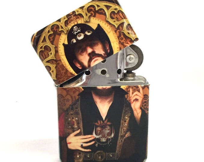 Flip lighter-Music rock legend-80's 90's-Sublimated-Retro-Cigar-Gift for Him-Groomsmen-Bachelors-Fathers Day