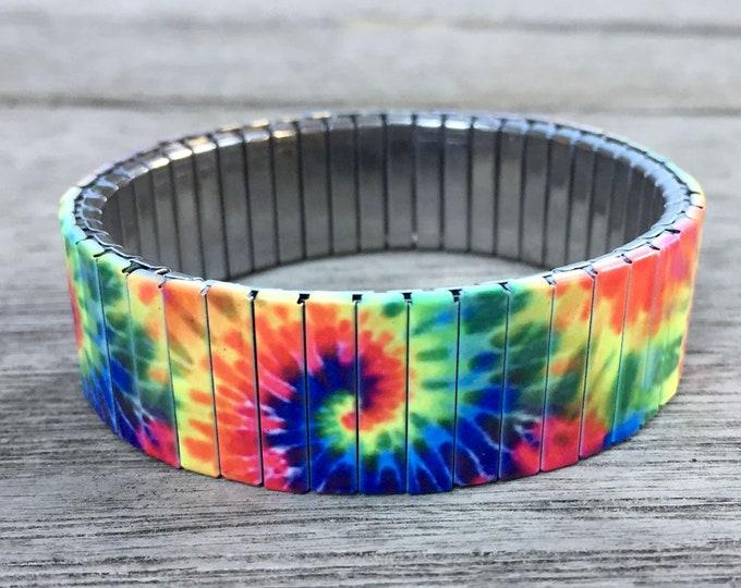 Wrist-Art, tie dye, Stretch bracelet