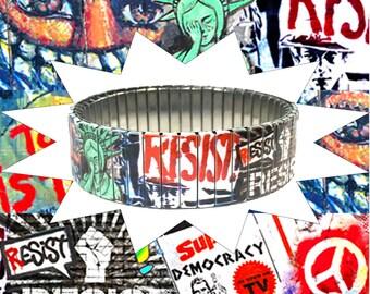 Stretch bracelet Resist, Human rights, Urban Art, Social justice, Equality