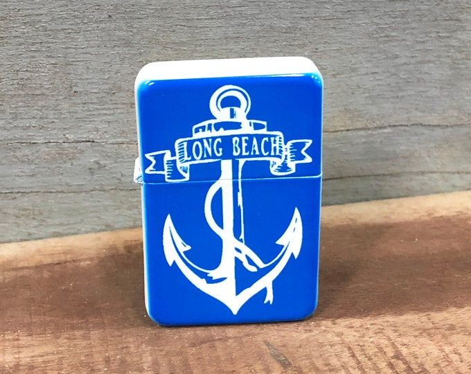 CUSTOMIZABLE Anchor sublimated Old school Flip lighter