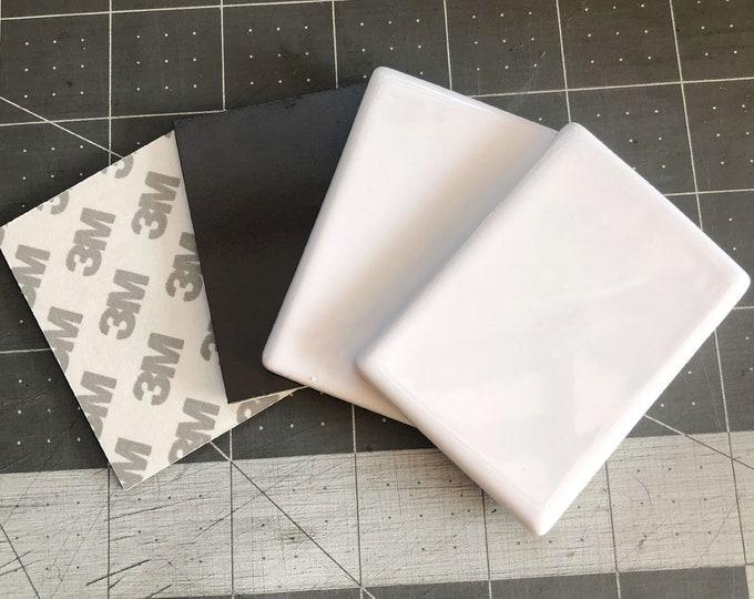 Rectangle refrigerator magnets! Ceramic sublimation blank