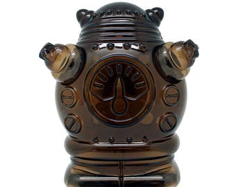 Robot Coin Bank made of molded smokey clear plastic, perfect gift for kids of any sci fi lover.