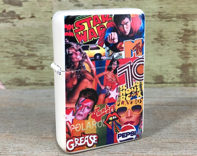 70's sublimated Old school Flip lighter