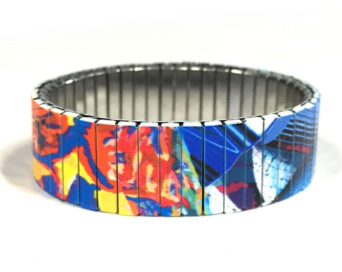 Stretch bracelet abstract, Wrist-Art Wrist Band, Sublimation, gift for friends