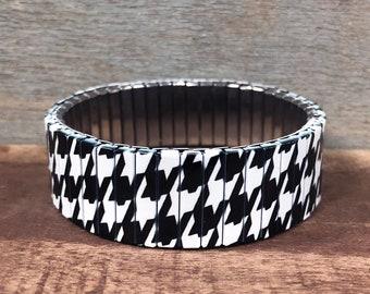 Wrist-Art, Houndstooth, stretch bracelet