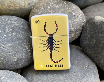 Flip lighter EL Alacran Loteria