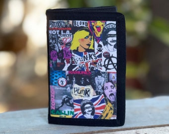 Canvas tri fold Wallet Punk Rock 80's Sublimation Gift for Friend