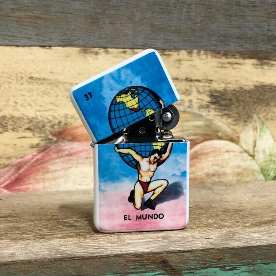 El Corazon loteria flip lighter