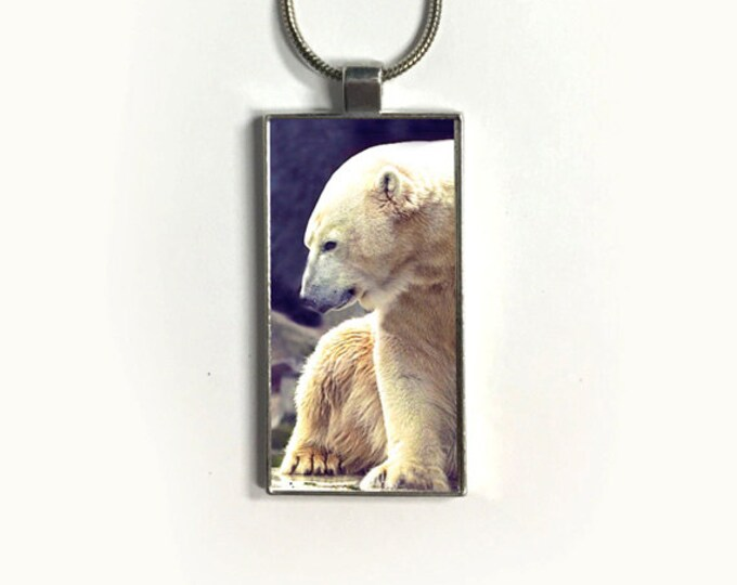 Necklace Polar Bear, Pendant, Nature, endangered species, sublimation, gift for friends