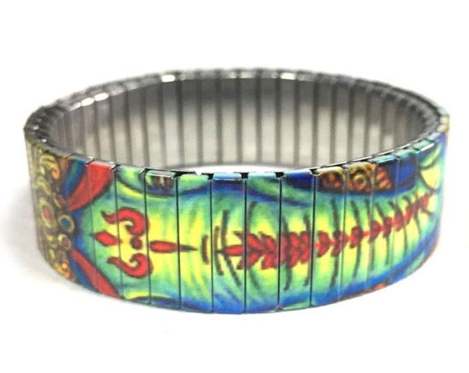 Ganesha bracelet-Faith-Religious-Stretch Bracelet-Sublimation-Wrist Art-Stainless Steel-gift for friend