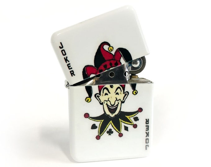 Joker flip lighter-Deck of cards-Sublimated-Retro-Cigar-Gift for Him-Groomsmen-Bachelors-Fathers Day