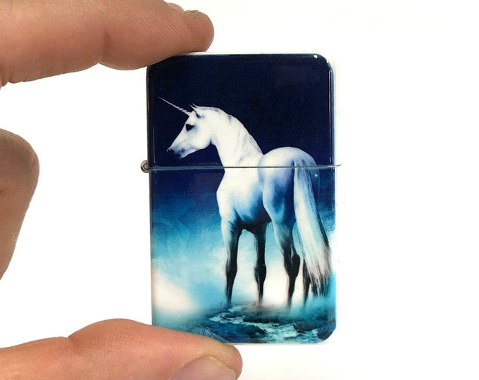 Flip lighter-Unicorn-Fantasy-Equestrian-Sublimated-Gift for Him-Groomsmen-Bachelors-Fathers Day