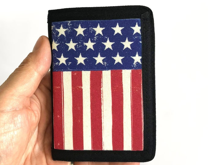 Wallet USA flag patriotic Gift for Friend