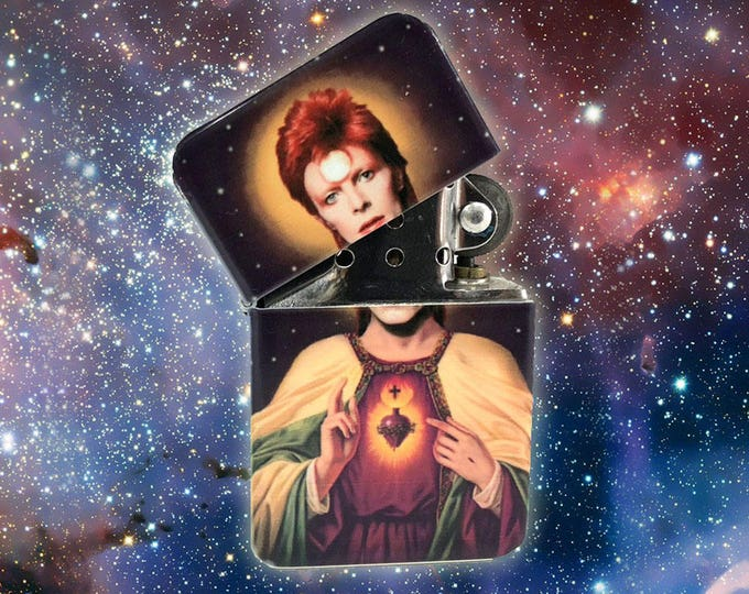 Flip lighter 80's music legend-Sacred heart-space odyssey-Retro-Cigar-Gift for Him-Fathers Day