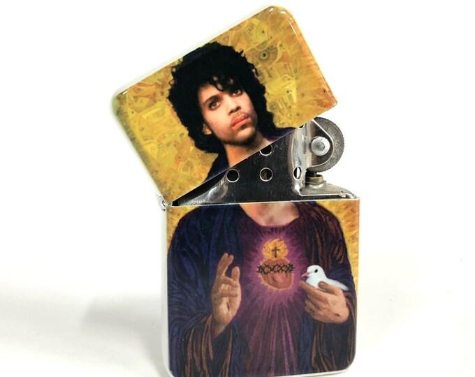 Flip lighter-Sacred heart-80's rock legend-music-Sublimated-Retro-Cigar-Gift for Him-Groomsmen-Bachelors-Fathers Day