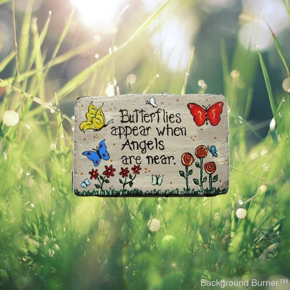 Butterflies  Paver Stone   Gift   Butterfly Stepping Stone   Memorial Stone    Hand Painted Stepping Stone   Custom Garden Stepping Stone