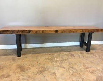 Cool Wood Bench Made With Reclaimed Wood And Iron Pipe Legs Etsy Creativecarmelina Interior Chair Design Creativecarmelinacom