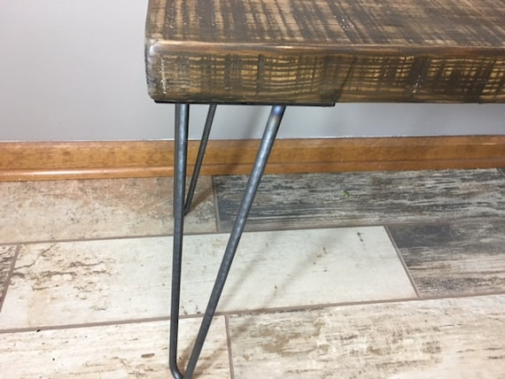 Reclaimed wood furniture etsy Coffee Table Wooden Bench With Hairpin Legs Reclaimed Wood Furniture Etsy Wooden Bench With Hairpin Legs Reclaimed Wood Furniture Etsy