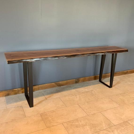 Miraculous Black Walnut Entry Table Hallway Table Nook Table 42 Inch High Bar Height Wood Table Machost Co Dining Chair Design Ideas Machostcouk