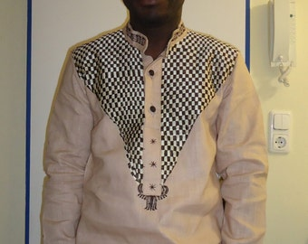 Proudly African Men's Embroidered Top