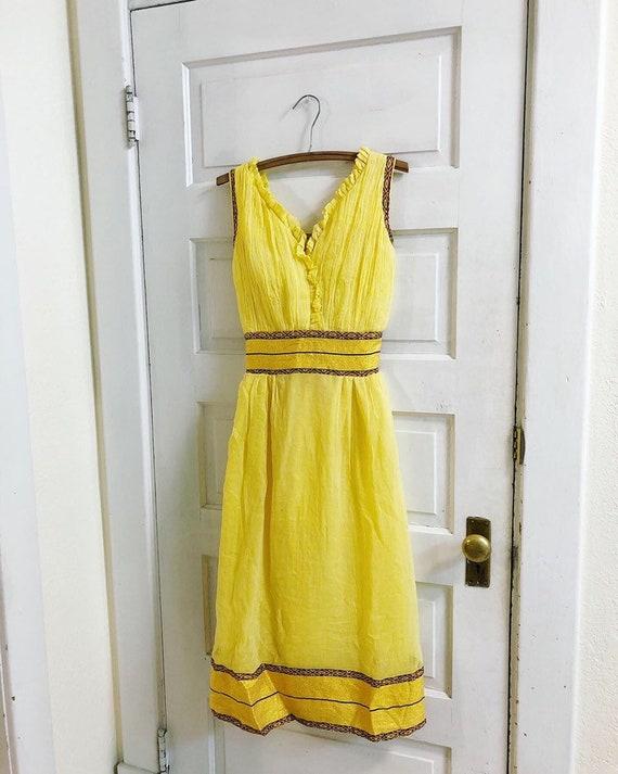 Vintage gauze Greek dress