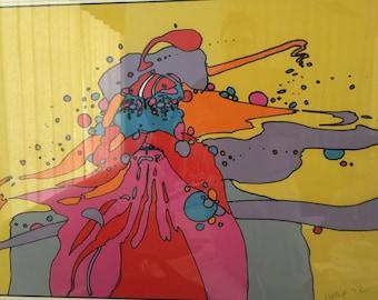 Peter Max Maharishi Silkscreen 1972