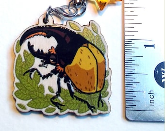 Wooden Beetle Phone Charms