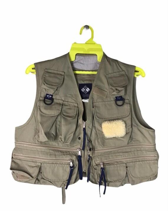 Rare Columbia Sportwear Fishing Outdoor Vest Mediu