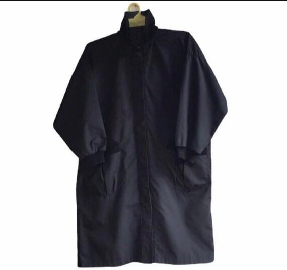 Vintage Issey Miyake Trench Coat Jacket Black Japa