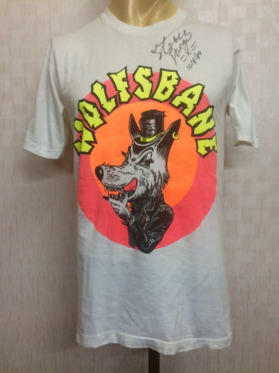 Vintage 80s - 1989 WOLFBANES Tshirt with original