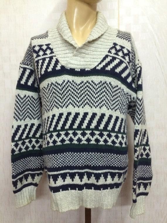 EDDIE BAUER Shawl Knit Sweatshirt