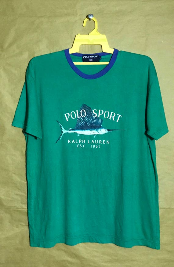 ef8b0870 ... uk vintage polo sport ralph lauren fish t shirt adult large size etsy  3c5e4 1537a