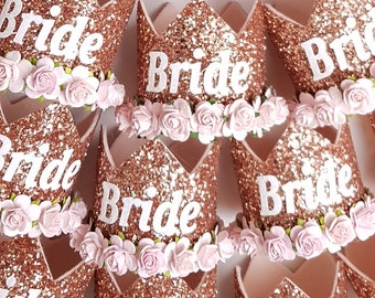 Bride crown - Bachelorette party - Bride to Be - rose gold  crown - gold crown - hen party -  fully customiseable