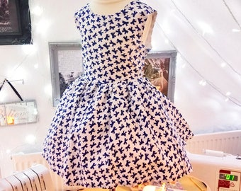 Bow Print Party Dress