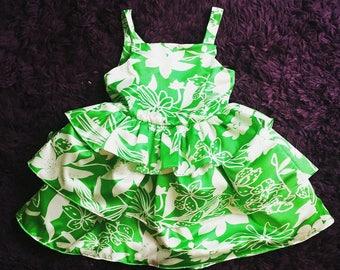 Tiered Satin Ruffle Dress