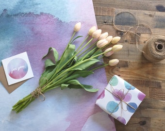 Watercolour Wrapping Paper Sheet | Made In Australia