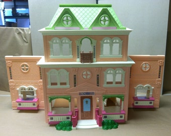 Mattel Loving Family Twin Time Grand Mansion With Staircase Fold Out Dollhouse Pretend Play