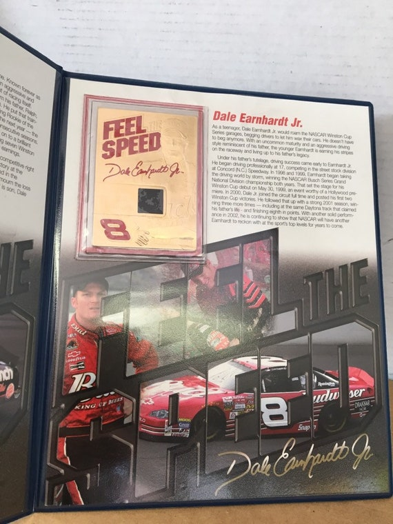 Vintage Dale Earnhardt Father & Son Lot Sketch by Donald Williams and  Danbury Mint Portfolio 23kt Gold Feel The Speed Cards