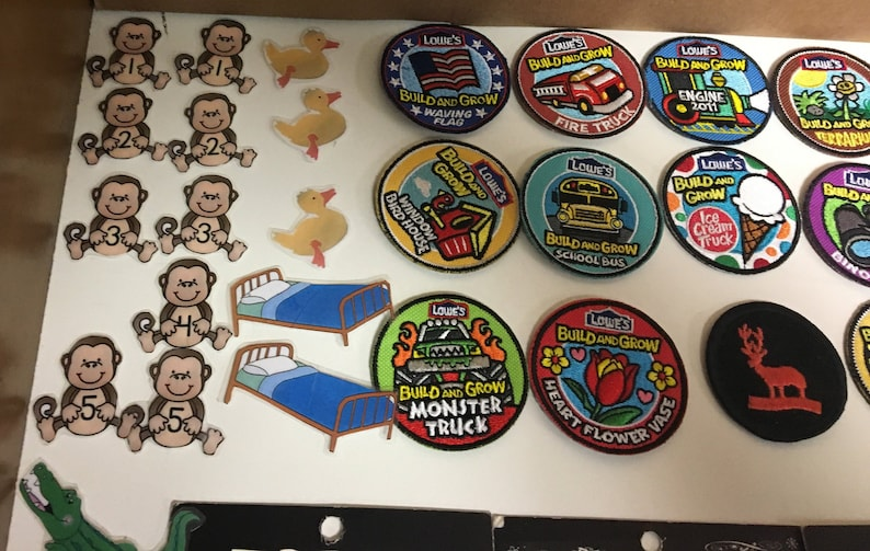 Vintage To Modern Iron On /& Sew On Mixed Patch Lot School Bus Rocky Bullwinkle Ziggy Alvin Chipmunks Canada Lowes Love Shine Bright