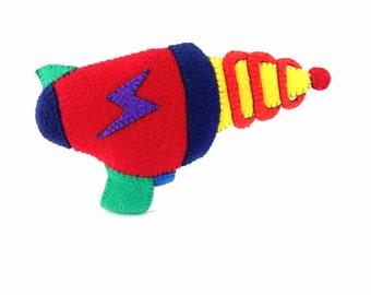 Kids decorative pillows. Sci fi, handmade, soft laser blaster gun toy. Perfect Birthday or Christmas gift .