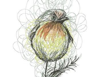 Bird  Machine embroidery design instant download
